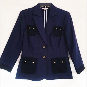 CAbi Blueberry Resort Military Jacket Blazer Sz 6